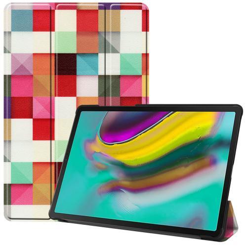 Design Trifold Bookcase voor de Samsung Galaxy Tab S5e - Kleurtjes