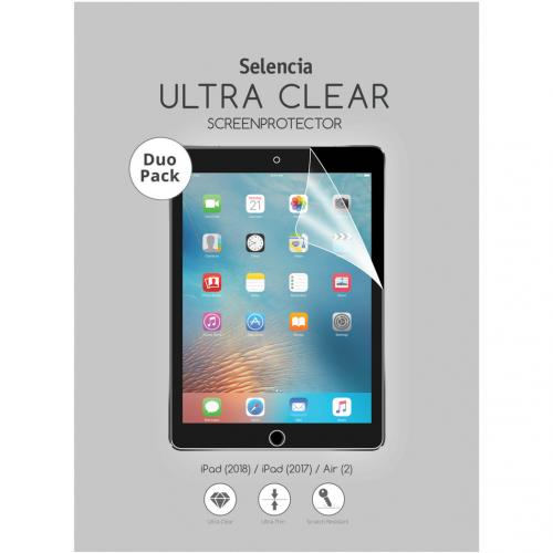 Duo Pack Ultra Clear Screenprotector voor de iPad (2018) / iPad (2017) / Air (2)