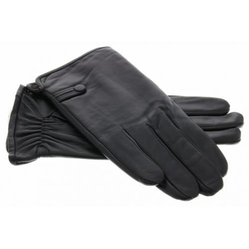 Echt lederen touchscreen handschoenen egaal - Maat XXL