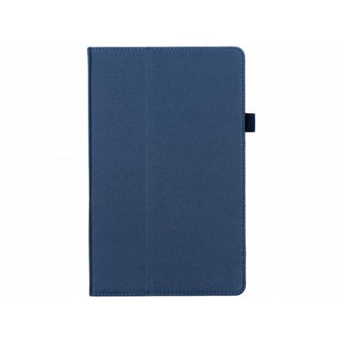 Effen Bookcase voor Samsung Galaxy Tab A 10.5 (2018) - Donkerblauw