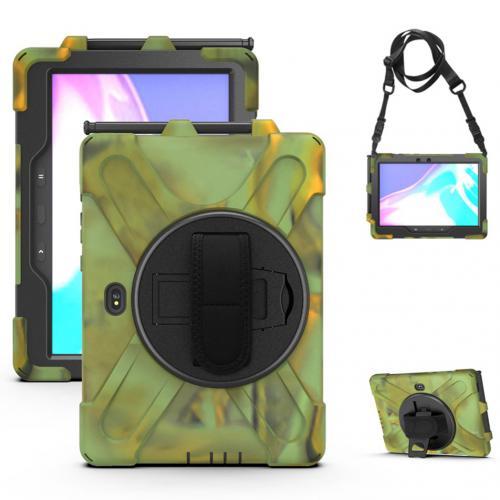 Extreme Backcover Shoulder Strap voor de Samsung Galaxy Tab Active Pro - Groen