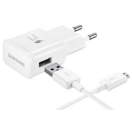 Fast Charging Adapter 2A + Micro-USB naar USB-kabel 1m - Wit