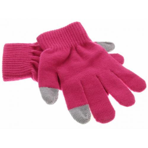 Fuchsia effen touchscreen handschoenen