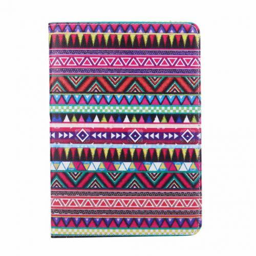 Gekleurde Aztec print lederen roterende hoes