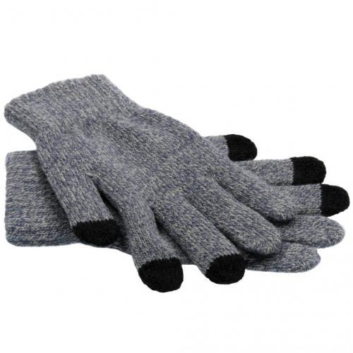 Grijze effen touchscreen handschoenen
