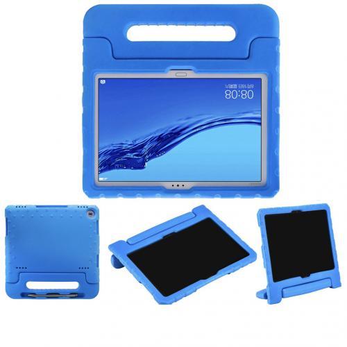 Kidsproof Backcover met handvat voor de Huawei MediaPad M5 Lite 10.1 inch - Blauw