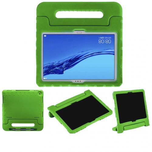 Kidsproof Backcover met handvat voor de Huawei MediaPad M5 Lite 10.1 inch - Groen