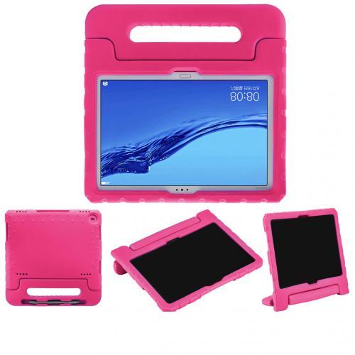 Kidsproof Backcover met handvat voor de Huawei MediaPad M5 Lite 10.1 inch - Roze