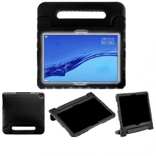 Kidsproof Backcover met handvat voor de Huawei MediaPad M5 Lite 10.1 inch - Zwart