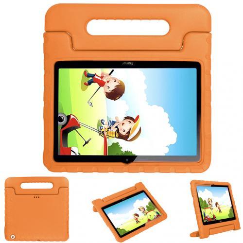 Kidsproof Backcover met handvat voor de Huawei MediaPad T3 10 inch - Oranje