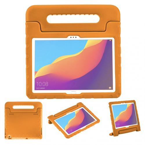 Kidsproof Backcover met handvat voor de Huawei MediaPad T5 10.1 inch - Oranje