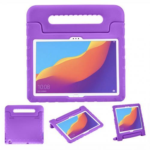 Kidsproof Backcover met handvat voor de Huawei MediaPad T5 10.1 inch - Paars