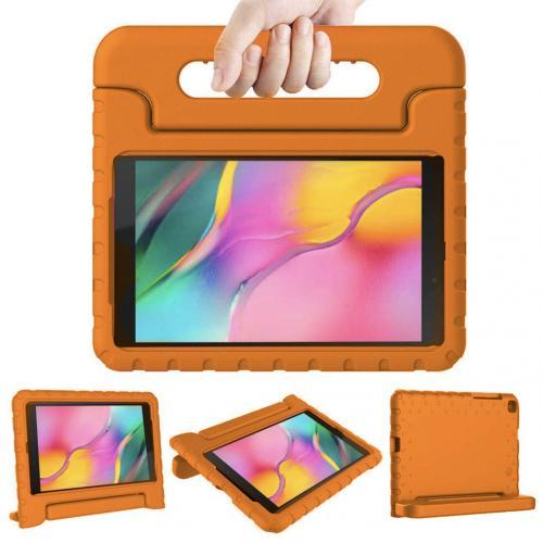 Kidsproof Backcover met handvat voor de Samsung Galaxy Tab A 8.0 (2019) - Oranje