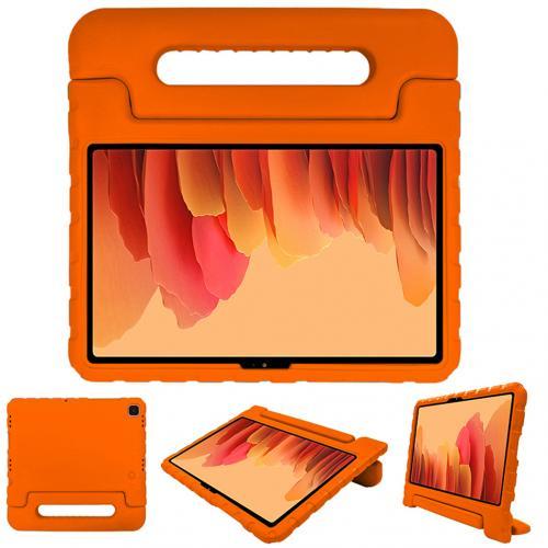 Kidsproof Backcover met handvat voor de Samsung Galaxy Tab A7 - Oranje
