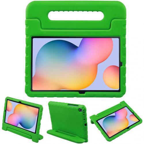 Kidsproof Backcover met handvat voor de Samsung Galaxy Tab S6 Lite - Groen