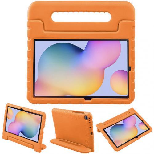 Kidsproof Backcover met handvat voor de Samsung Galaxy Tab S6 Lite - Oranje