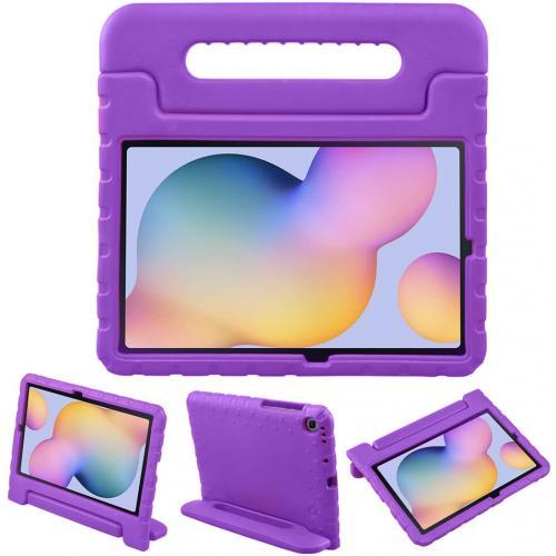 Kidsproof Backcover met handvat voor de Samsung Galaxy Tab S6 Lite - Paars
