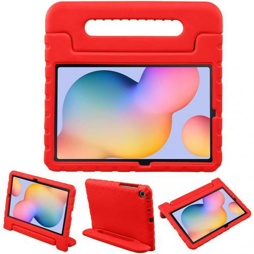 Kidsproof Backcover met handvat voor de Samsung Galaxy Tab S6 Lite - Rood