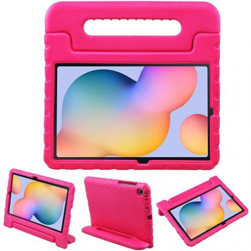 Kidsproof Backcover met handvat voor de Samsung Galaxy Tab S6 Lite - Roze