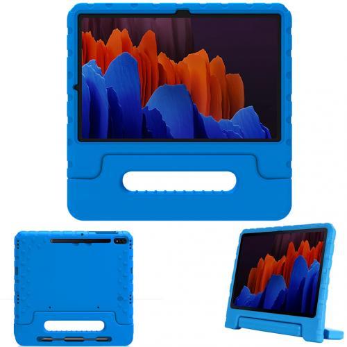 Kidsproof Backcover met handvat voor de Samsung Galaxy Tab S7 Plus - Blauw
