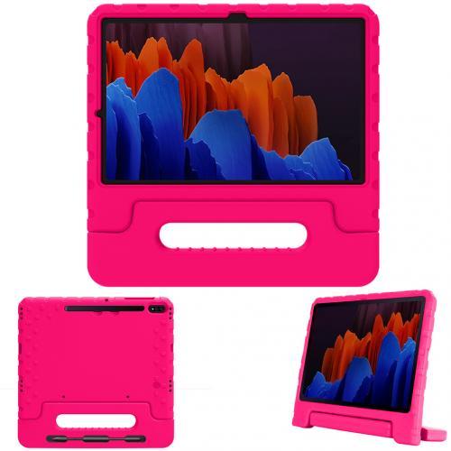 Kidsproof Backcover met handvat voor de Samsung Galaxy Tab S7 Plus - Roze