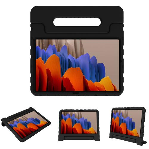 Kidsproof Backcover met handvat voor de Samsung Galaxy Tab S7 Plus - Zwart