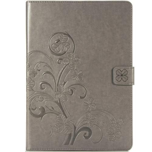Klavertje Bloemen Bookcase voor de iPad 10.2 (2019) - Grijs