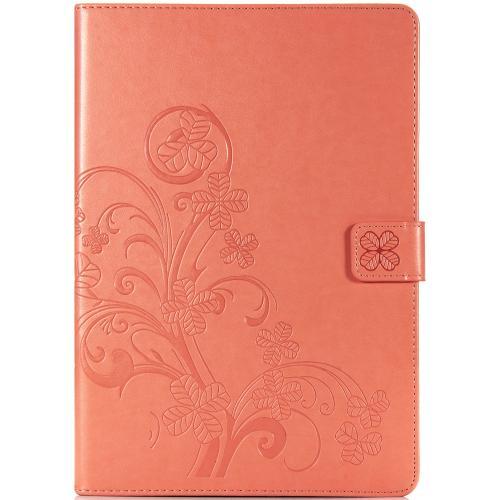 Klavertje Bloemen Bookcase voor de iPad 10.2 (2019) - Peach