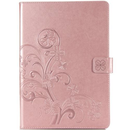 Klavertje Bloemen Bookcase voor de iPad 10.2 (2019) - Rosé Goud