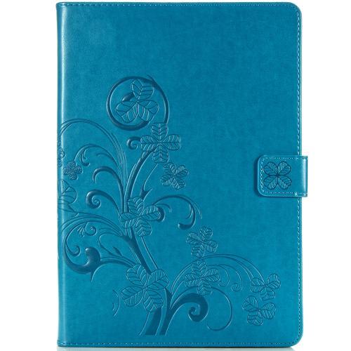 Klavertje Bloemen Bookcase voor de iPad 10.2 (2019) - Turquoise