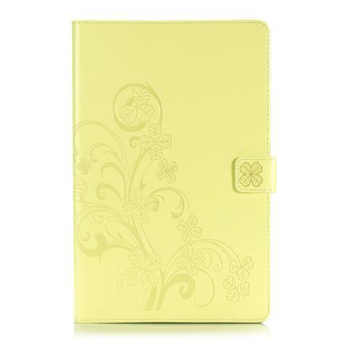 Klavertje Bloemen Bookcase voor de Samsung Galaxy Tab A 10.1 (2019) - Geel