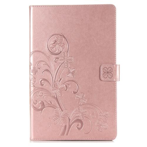 Klavertje Bloemen Bookcase voor de Samsung Galaxy Tab A 10.1 (2019) - Rosé Goud