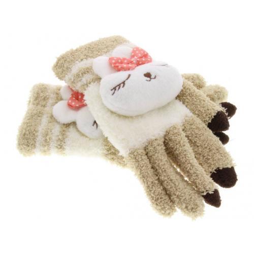 Konijn dieren touchscreen handschoenen