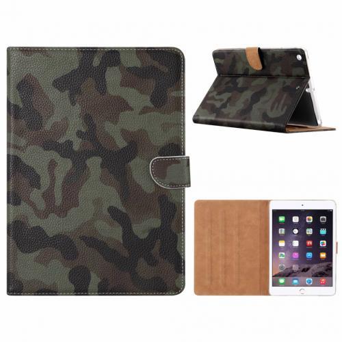 Leger Camouflage print lederen standaard hoes