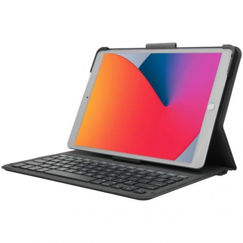 Messenger Folio 2 Keyboard Case voor de iPad 10.2 (2019 / 2020) - Grijs