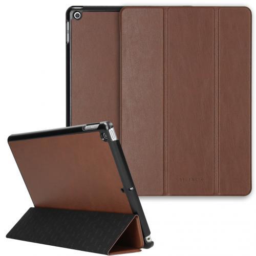 Nuria Vegan Lederen Trifold Book Case voor de iPad 10.2 (2019 / 2020) - Bruin