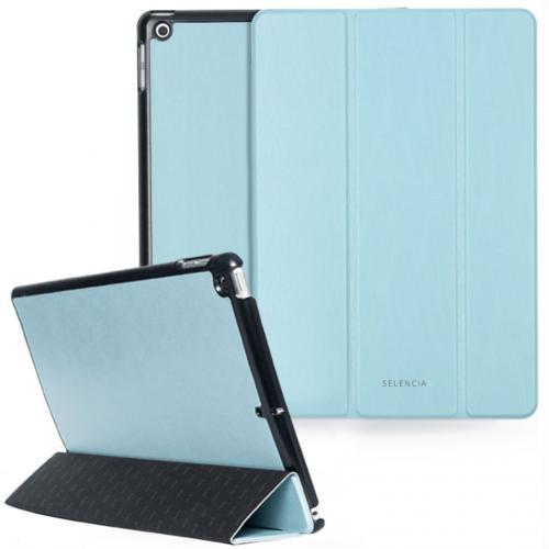 Nuria Vegan Lederen Trifold Book Case voor de iPad 10.2 (2019 / 2020) - Lichtblauw