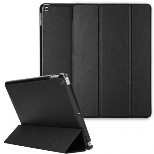 Nuria Vegan Lederen Trifold Book Case voor de iPad 10.2 (2019 / 2020) - Zwart