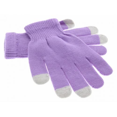Paarse effen touchscreen handschoenen