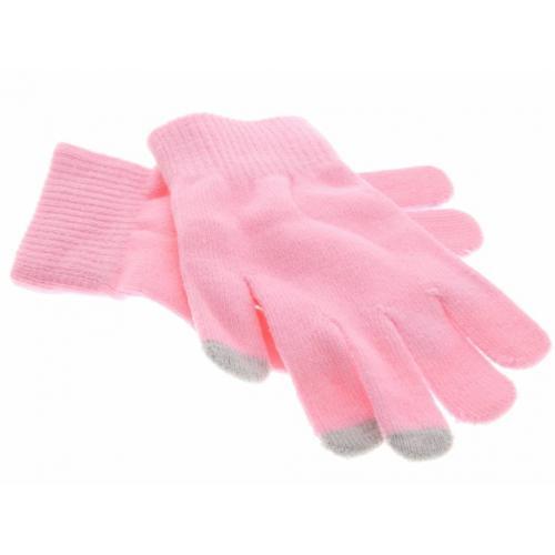 Roze effen touchscreen handschoenen