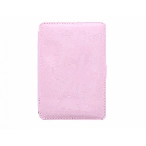 Roze glanzend romantische tablethoes voor de iPad Mini / 2 / 3