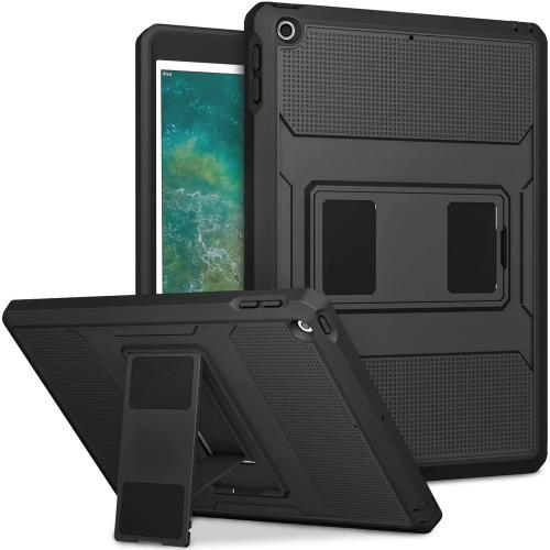 Rugged Back Case voor de iPad (2018) / (2017) - Zwart