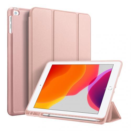 Smart Silicone Bookcase voor de iPad 10.2 (2019) - Rosé Goud