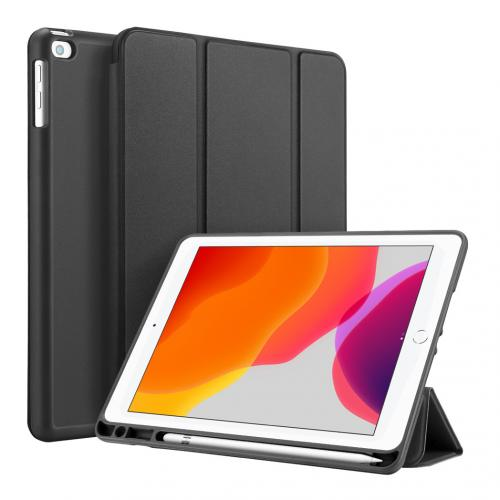 Smart Silicone Bookcase voor de iPad 10.2 (2019) - Zwart
