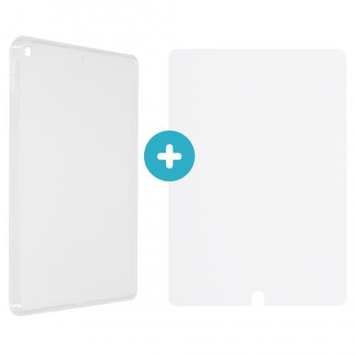 Softcase Backcover + Glass Screenprotector voor de iPad 10.2 (2019 / 2020)
