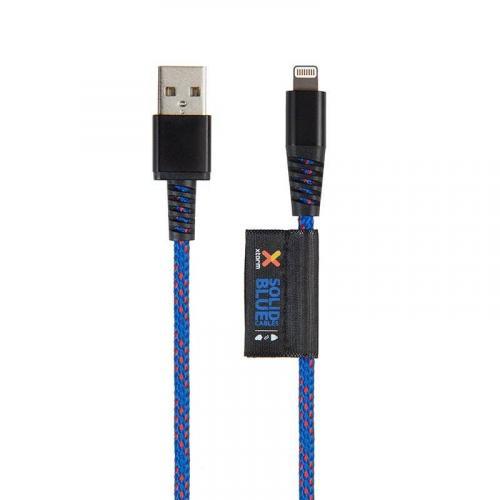 Solid Blue Lightning naar USB kabel - 1 meter