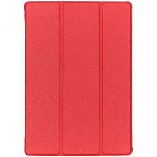Stijlvolle Bookcase voor de Lenovo Tab M10 - Rood