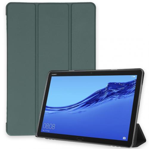 Trifold Bookcase voor de Huawei MediaPad M5 Lite 10.1 inch - Donkergroen