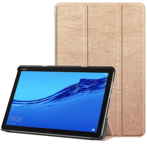 Trifold Bookcase voor de Huawei MediaPad M5 Lite 10.1 inch - Goud