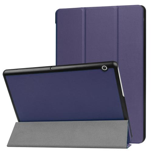 Trifold Bookcase voor de Huawei MediaPad T3 10 inch - Donkerblauw